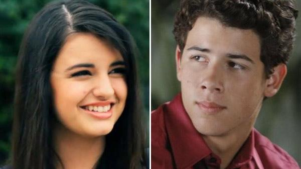 Rebecca Black appears in a still from her music video, Friday./Nick Jonas appears in a still from ABCs Mr. Sunshine. - Provided courtesy of OTRC / Arc Music Factory/ABC/Michael Desmond