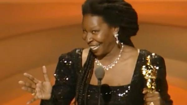 Whoopi Goldberg accepts her Oscar for her role in Ghost at the 1991 Academy Awards. - Provided courtesy of A.M.P.A.S.