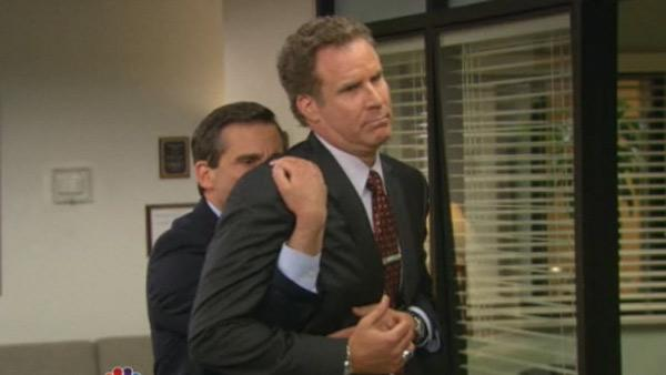Steve Carell and Will Ferrell appear on The Office in a April 14, 2011 episode. - Provided courtesy of NBC