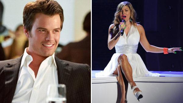 Josh Duhamel appears in a still from his 2004 film, Win a Date with Tad Hamilton./Fergie of the Black Eyed Peas appears on Foxs American Idol on March 23, 2011. - Provided courtesy of Dreamworks/Fox