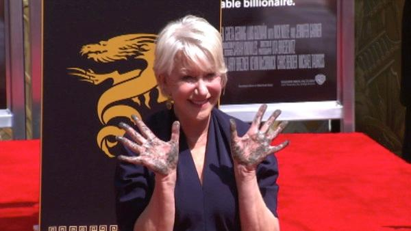 Helen Mirren honored at Chinese Theatre
