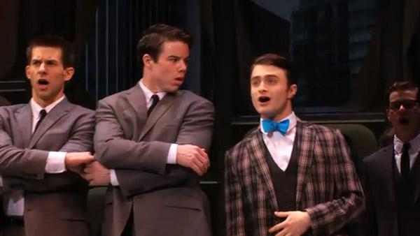 Daniel Radcliffe made his Broadway musical debut on March 27, 2011, starring in a revival of How to Succeed in Business Without Really Trying. - Provided courtesy of youtube.com/user/H2SBway