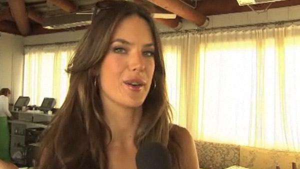 Alessandra Ambrosio talks to OnTheRedCarpet.com at the launch of Victorias Secret 2011 swimwear collection in March 2011. - Provided courtesy of OTRC