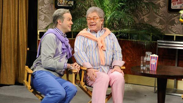 Taran Killam and Elton John appear in a skit from Saturday Night Live, which aired on April 2, 2011. - Provided courtesy of NBC/Dana Edelson