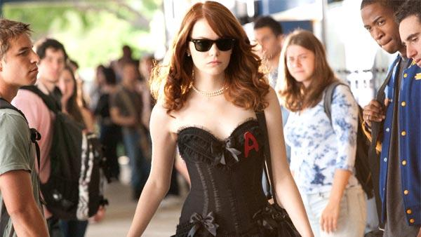 Emma Stone in a scene from her recent film, Easy A. Stone is nominated for Brink of Fame: Actor for her upcoming performance in The Amazing Spider-Man for the 2011 NewNextNow Awards. - Provided courtesy of Adam Taylor  2010 CTMG, Inc.