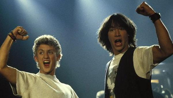 Keanu Reeves and Alex Winter appear in a scene from the 1989 movie Bill and Teds Excellent Adventure. - Provided courtesy of Metro-Goldwyn-Mayer Studios