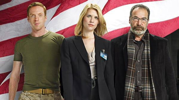 Damian Lewis, Claire Danes and Mandy Patinkin appear in a promotional photo for Homeland. - Provided courtesy of OTRC / Showtime