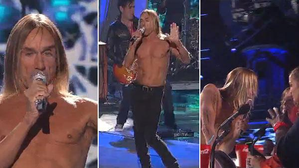 Iggy Pop performed on American Idol on April 7 in his signature stage outfit - tight pants. - Provided courtesy of FOX