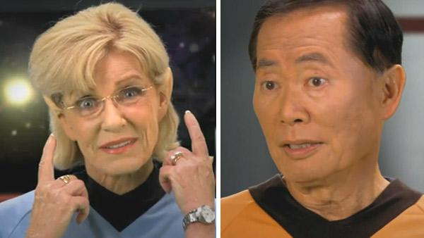 Patty Duke and George Takei appear in videos for SocialSecurity.gov. - Provided courtesy of OTRC / SocialSecurity.gov