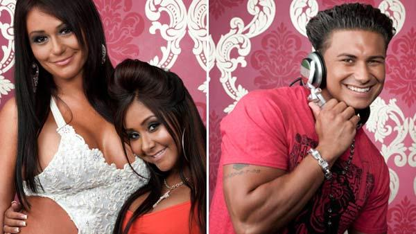 J-Woww, Snooki and Pauly D appears in a promotional photo for Jersey Shore. - Provided courtesy of MTV/Emily Shur