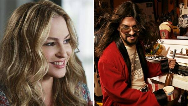 Drea de Matteo appears in a scene from the ABC drama series 'Desperate Housewives' in 2010. / Shooter Jennings appears in a photo on his Twitter page.