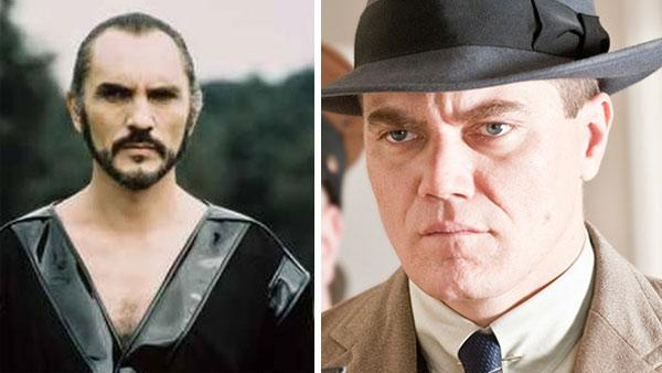 Terence Stamp appears as General Zod in the 1978 movie Superman: The Movie. / Michael Shannon appears in a scene from the HBO series Boardwalk Empire. - Provided courtesy of Warner Bros. Films / HBO