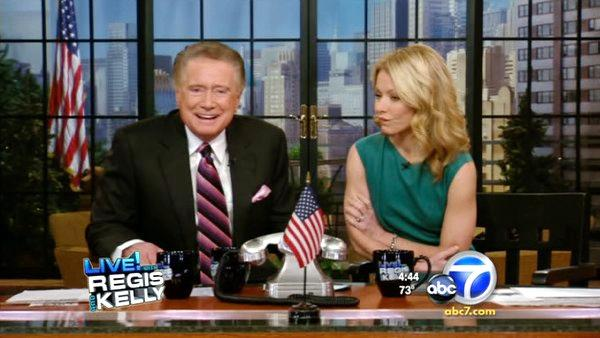Veteran broadcaster Regis Philbin announced hes retiring from his weekday talk show, LIVE! with Regis and Kelly. - Provided courtesy of KABC