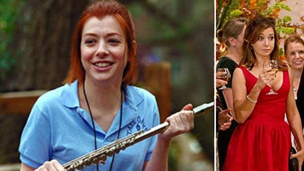 Alyson Hannigan appears in a scene from American Pie 2 in 2001. / Alyson Hannigan appears in a scene from the show How I Met Your Mother. - Provided courtesy of Universal Pictures / CBS