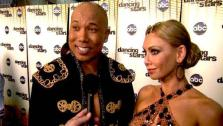 Hines Ward speaks after Dancing With the Stars season 12s third results show Tuesday, April 12, 2011.