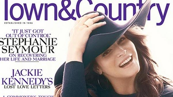 Stephanie Seymour appears on the cover of Town and Country magazine in May 2011. - Provided courtesy of Town and Country magazine