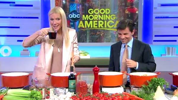 Gwyneth Paltrow appears on ABC morning show Good Morning America on Wednesday, April 13, 2011. - Provided courtesy of ABC