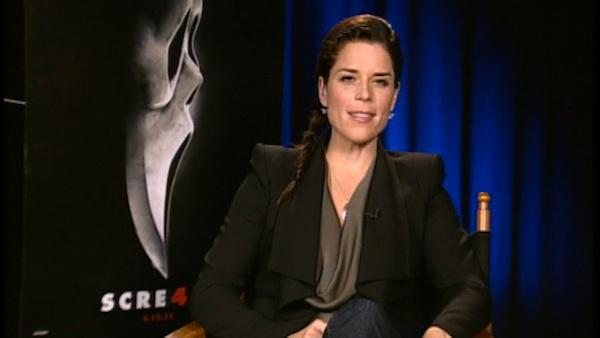 Scream 4 star Neve Campbell spills on the flicks Hollywood premiere, and more Screams in her future? - Provided courtesy of OTRC