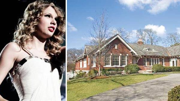 Taylor Swift appears at a Houston concert in 2010, in a photo posted on her website. / The home Swift is said to have bought her parents in Nashville, TN in 2010. - Provided courtesy of taylorswift.com / Real estate agent Richard B French / rickfrenchjr.com/listings/