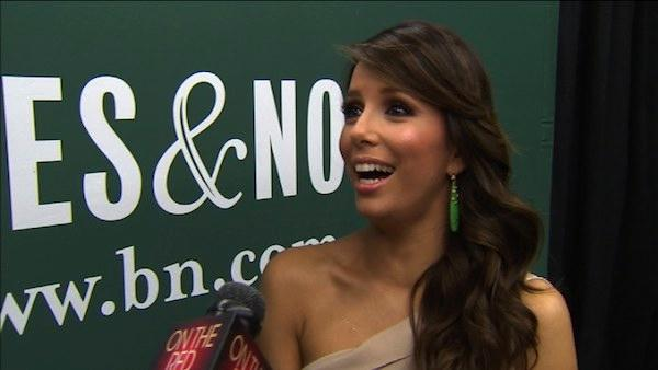 Eva Longoria talks Desperate Housewives spoilers and her new and first cookbook Evas Kitchen: Cook with Love for Family and Friends, with OnTheRedCarpets host Rachel Smith on Wednesday. April 13, 2011 in Los Angeles. - Provided courtesy of OnTheRedCarpet.com