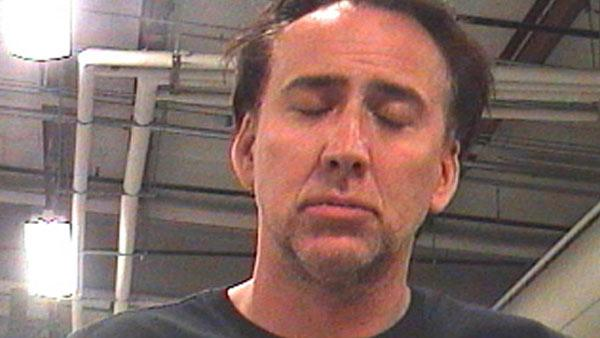 Nicolas Cage appears in a photo provided by the New Orleans Parish Sheriffs Office on April 16, 2011. - Provided courtesy of Orleans Parish Sheriffs Office