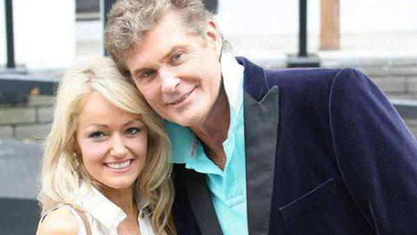 David Hasselhoff and Hayley Roberts are pictured near the ITV studios in London on April 14, 2011. - Provided courtesy of davidhasselhoff.com