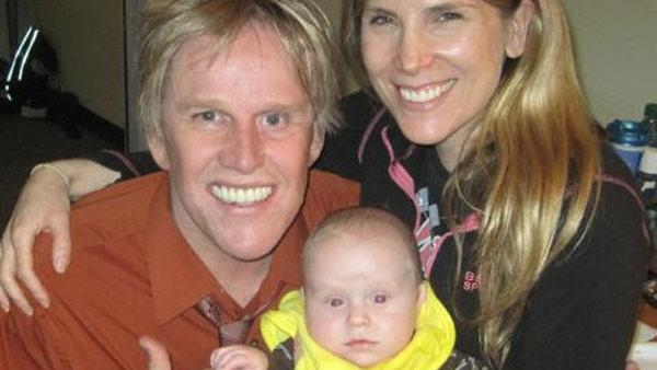 Pictured: Gary Busey, Steffanie Sampson and son Luke in a photo posted on Gary Busey's Twitter page.