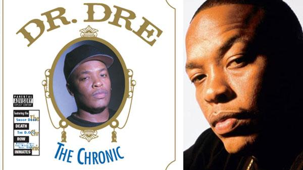 The cover of Dr. Dres 1992 album The Chronic. / Dr. Dre is pictured in an undated photo posted on his MySpace page. - Provided courtesy of Death Row Records / myspace.com/drdre
