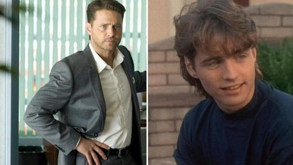 (Pictured: Jason Priestley appears in a scene from Beverly Hills, 90210. / Jason Priestley appears in a scene from the series Call Me Fitz.) - Provided courtesy of Spelling Television / FOX / HBO Canada