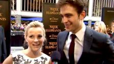 Reese Witherspoon and Robert Pattinson talk to OnTheRedCarpet.com at the premiere of Water for Elephants. - Provided courtesy of OTRC