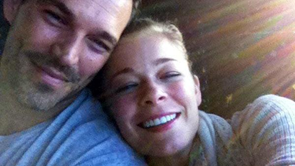 Pictured: LeAnn Rimes and Eddie Cibrian appear in a photo posted on her Twitter page in June 2010.