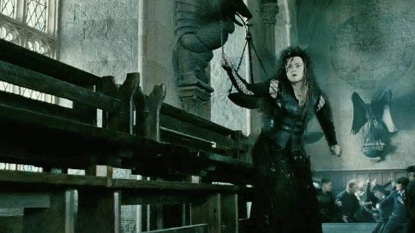 Bellatrix Lestrange (Helena Bonham Carter) appears in a scene from the 2011 film, 'Harry Potter and the Deathly Hallows - Part 2.'
