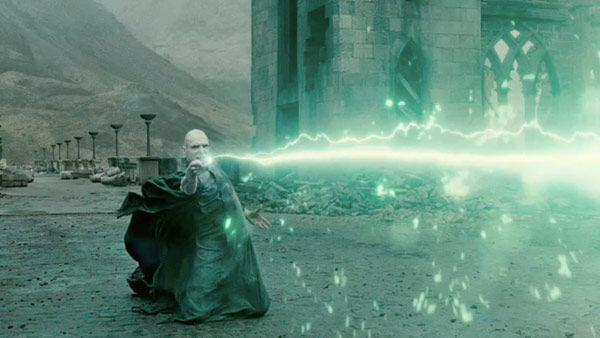 Lord Voldemort (Ralph Fiennes) appears in a scene from the 2011 film 'Harry Potter and the Deathly Hallows - Part 2.'