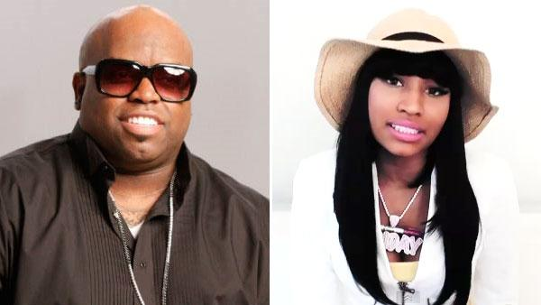 Left: Cee Lo Green in a 2011 promotional photo for The Voice. Right: Nicki Minaj in a video from her official YouTube page. - Provided courtesy of NBC / YouTube.com