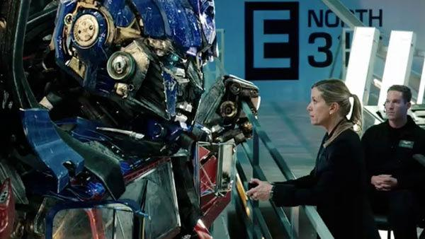 A scene from the 2011 film, 'Transformers: Dark of the Moon,' directed by Michael Bay and starring Shia LaBeouf, Rosie Huntington-Whiteley and Josh Duhamel.