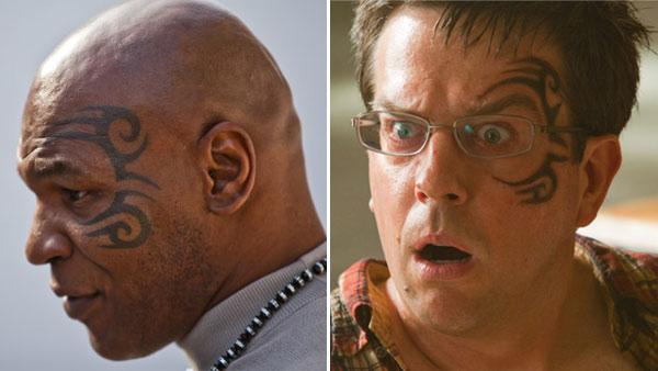 Mike Tyson appears in a still from Taking on Tyson. / Ed Helms appears in a still from The Hangover Part II. - Provided courtesy of Discovery Communications / Mat Szwajkos / Warner Bros. Pictures