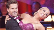 Kendra Wilkinson and her partner Louis van Amstel shook all that theyve got to Ke$has song We R Who We R for the group dance.  Their team scores a 30 out of 40. - Provided courtesy of OTRC