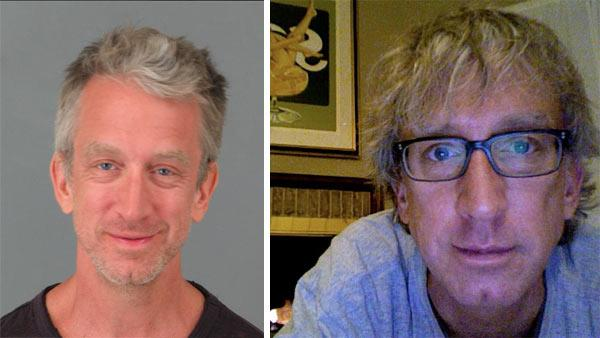 Andy Dick appears in booking photo made available by Riverside County Sheriffs Department. He was arrested in CA on suspicion of disorderly conduct involving drugs and alcohol on May 2, 2011. / Andy Dick appears in a photo posted on his Facebook page. - Provided courtesy of Riverside County Sheriffs Department / facebook.com/andydick