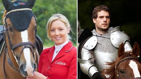 Ellen Whitaker appears in a photo posted on her website in 2011. / Henry Cavill in a scene from 'The Tudors.'