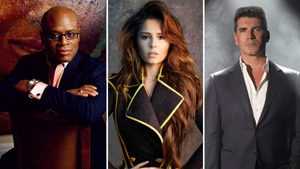 L.A. Reid, Cheryl Cole and Simon Cowell appear in promotional photos for the FOX series The X Factor. - Provided courtesy of Ian Derry / FOX
