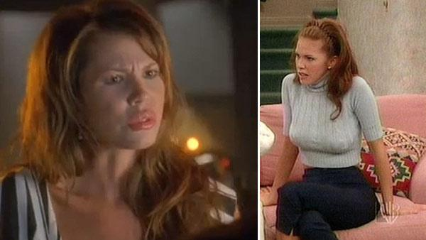 Nikki Cox appears in a scene from 'Lonely Street.' / Nikki Cox appears in a scene from the 1990s series' Unhappily Ever After.'