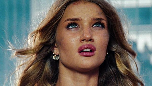 Rosie Huntington-Whiteley appears in a still from her 2011 film, Transformers: Dark of the Moon. - Provided courtesy of Paramount Pictures