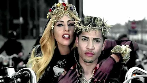 Lady Gaga appears in a still from her 2011 Judas music video. - Provided courtesy of Interscope Records