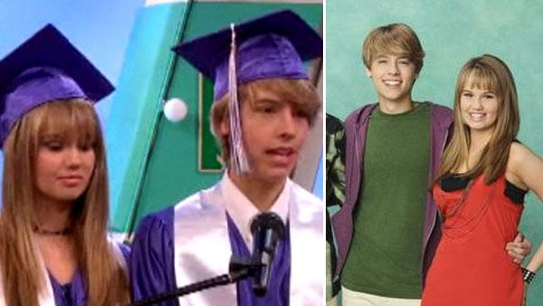 Cole Sprouse appears as Cody Martin and Debby Ryan as Bailey Pickett in a scene from the Disney Channel series The Suite Life on Deck/ Cole Sprouse appears as Cody Martin and o.o for The Suite Life on Deck. - Provided courtesy of Disney Channel / Craig Sjogin