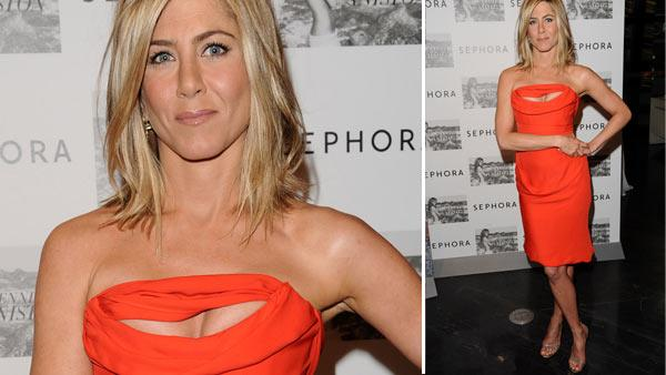 Actress Jennifer Aniston makes an appearance at Sephora to promote her new fragrance Jennifer Aniston on Thursday, May 5, 2011 in New York. - Provided courtesy of AP / AP Photo/Peter Kramer
