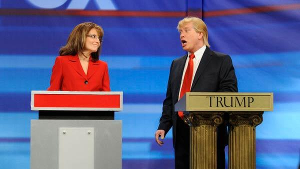 Tina Fey appears as Sarah Palin on Saturday Night Live on May 7, 2011. - Provided courtesy of NBC