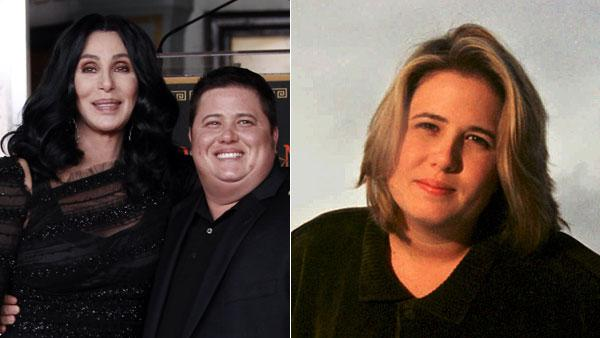 chastity bono before after. chastity bono before after. Cher, left, and Chaz Bono pose