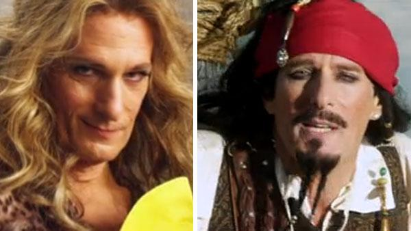 Michael Bolton appears on Saturday Night Live as Erin Brockovich and as Captain Jack Sparrow on an episode that aired on May 7, 2011. - Provided courtesy of NBC