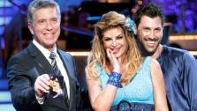Tom Bergeron, Kirstie Alley and Maksim Chmerkovskiy appear in a still from Dancing With The Stars which aired on April 9, 2011. - Provided courtesy of OTRC / ABC / Adam Taylor