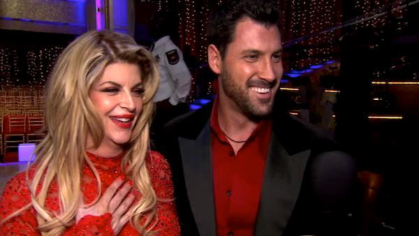 Kirstie Alley and Maksim Chmerkovskiy talk to OnTheRedCarpet.com after Dancing With The Stars on May 10, 2011. - Provided courtesy of OTRC